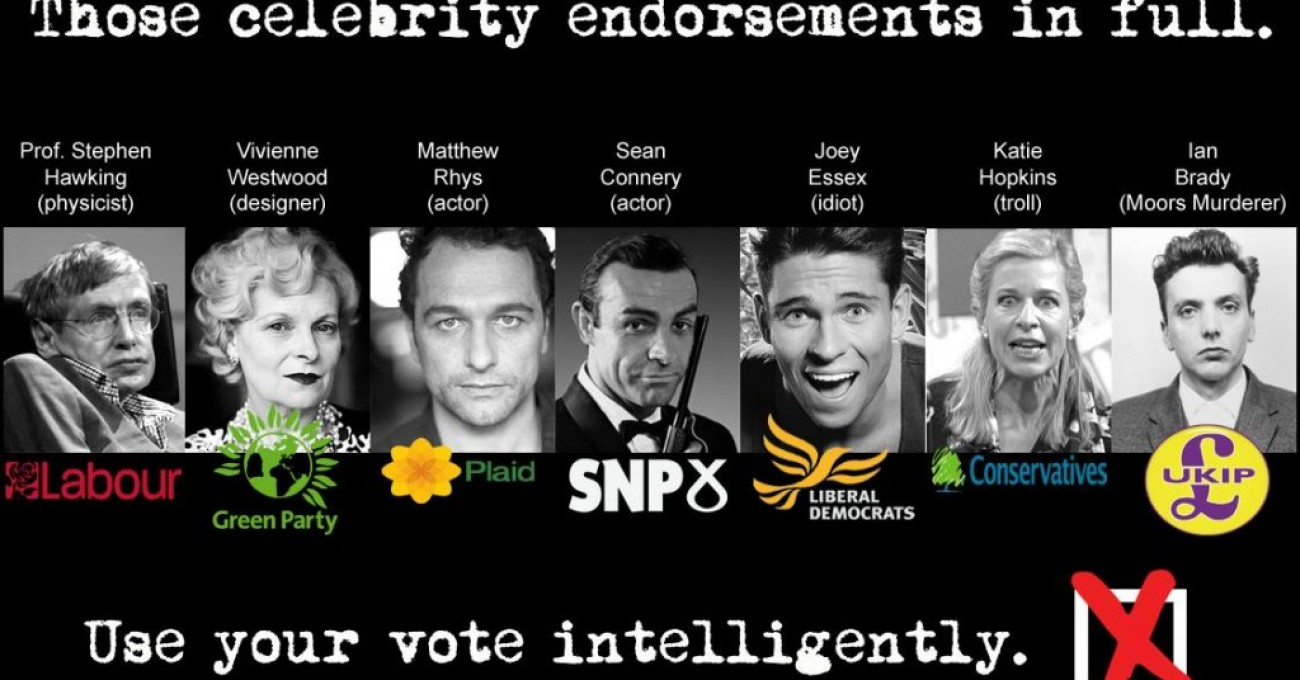 Political Celebrity Endorsements In Full
