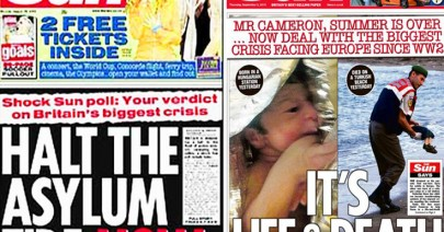 Nothing captures Western hypocrisy on refugees like British tabloid front pages!